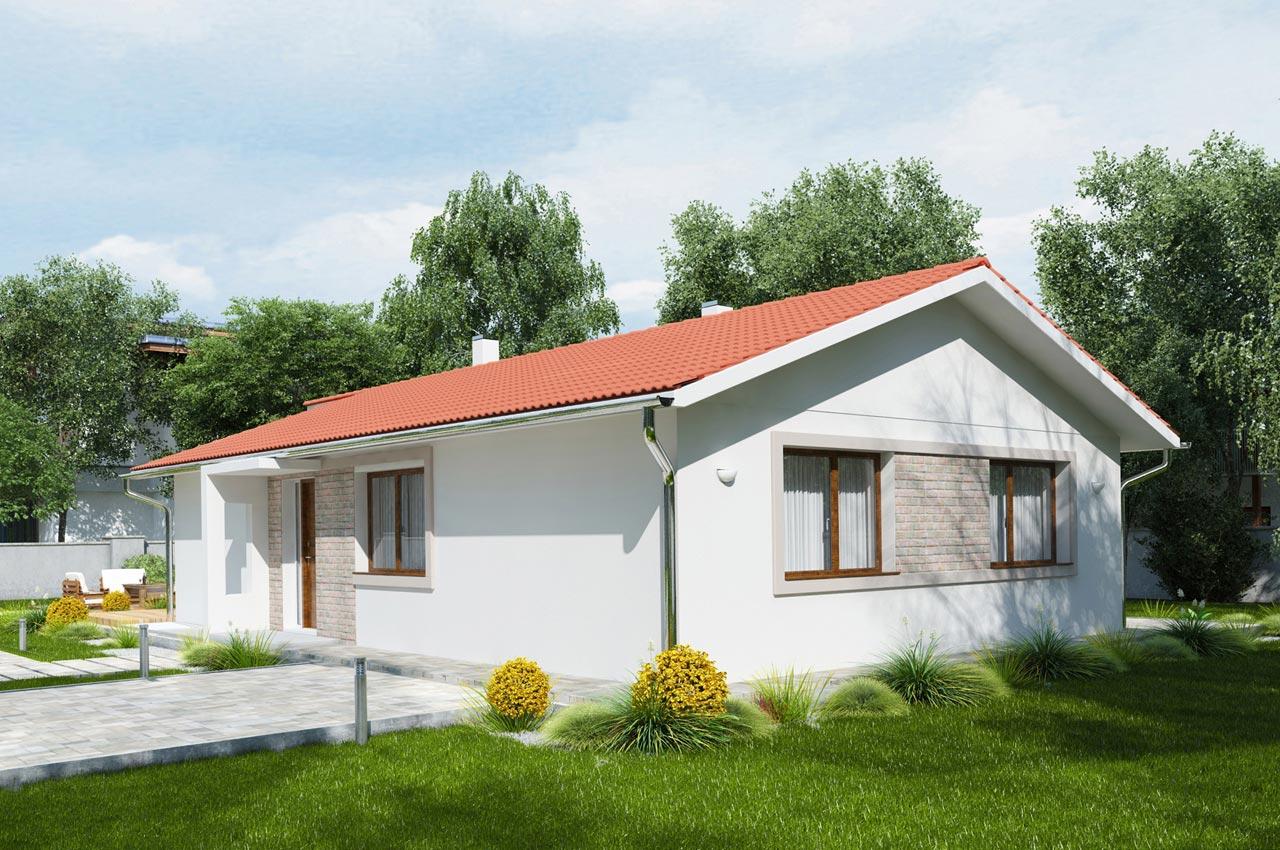 Проект одноэтажного дома 101м2 К-11017575 вид сбоку