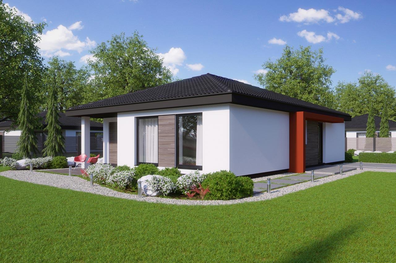 Проект одноэтажного дома 96 м2 К-19672