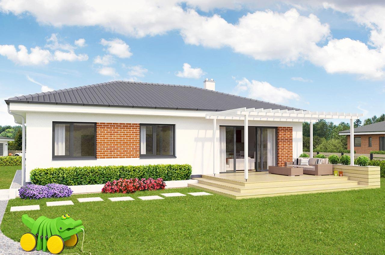 Проект одноэтажного дома 101 м2 К-1101757