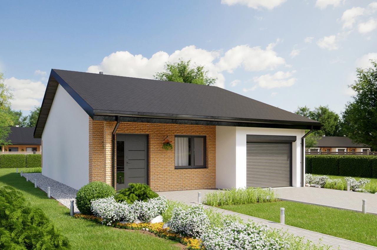 Проект одноэтажного дома 111 м2 с гаражом К111183