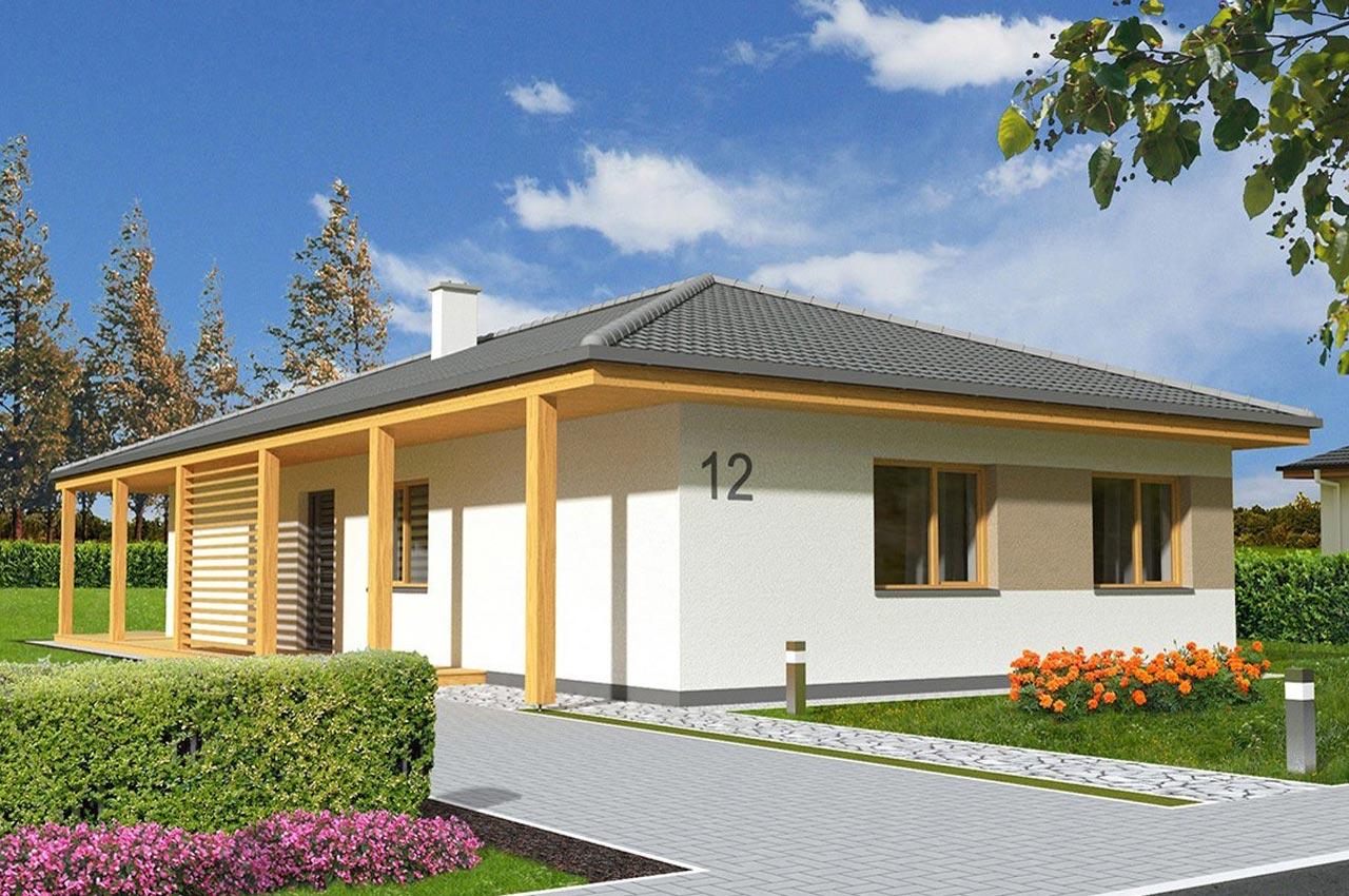 Проект одноэтажного дома 107 м2 К-107802