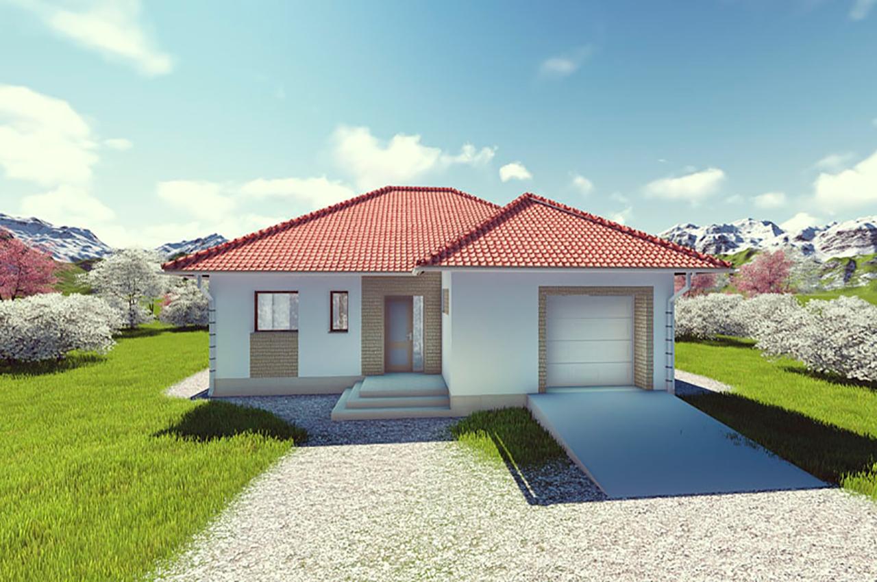 Проект одноэтажного дома 224 м2 с гаражом и мансардой, стоимость и фото, К-122416
