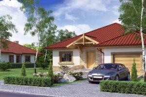 Проект одноэтажного дома с мансардой и гаражом 273 м2, фото и цены, К127321