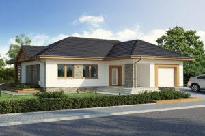 Дизайн проект одноэтажного дома 302 м2 с гаражом и мансардой, стоимость и фото, К-130223