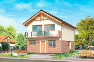Проект дома в один этаж с мансардой площадью 160м2