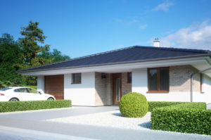 Проект одноэтажного дома с гаражом 128 м2 К112896