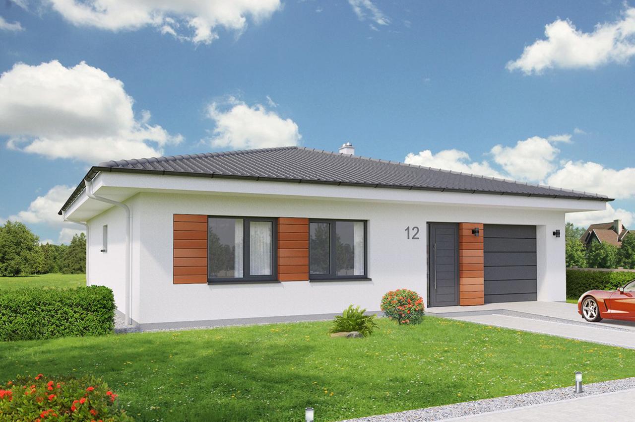 Проект одноэтажного дома с гаражом 134 м2 К113410