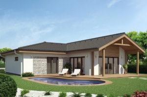Проект одноэтажного дома с гаражом 137 м2 К137127