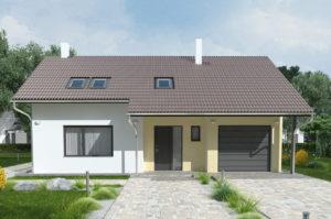 Проект одноэтажного дома 139 м2 с мансардой К139142