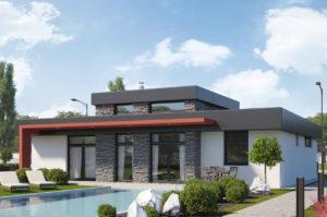 Проект двухэтажного дома 142 м2 с мансардой К142065