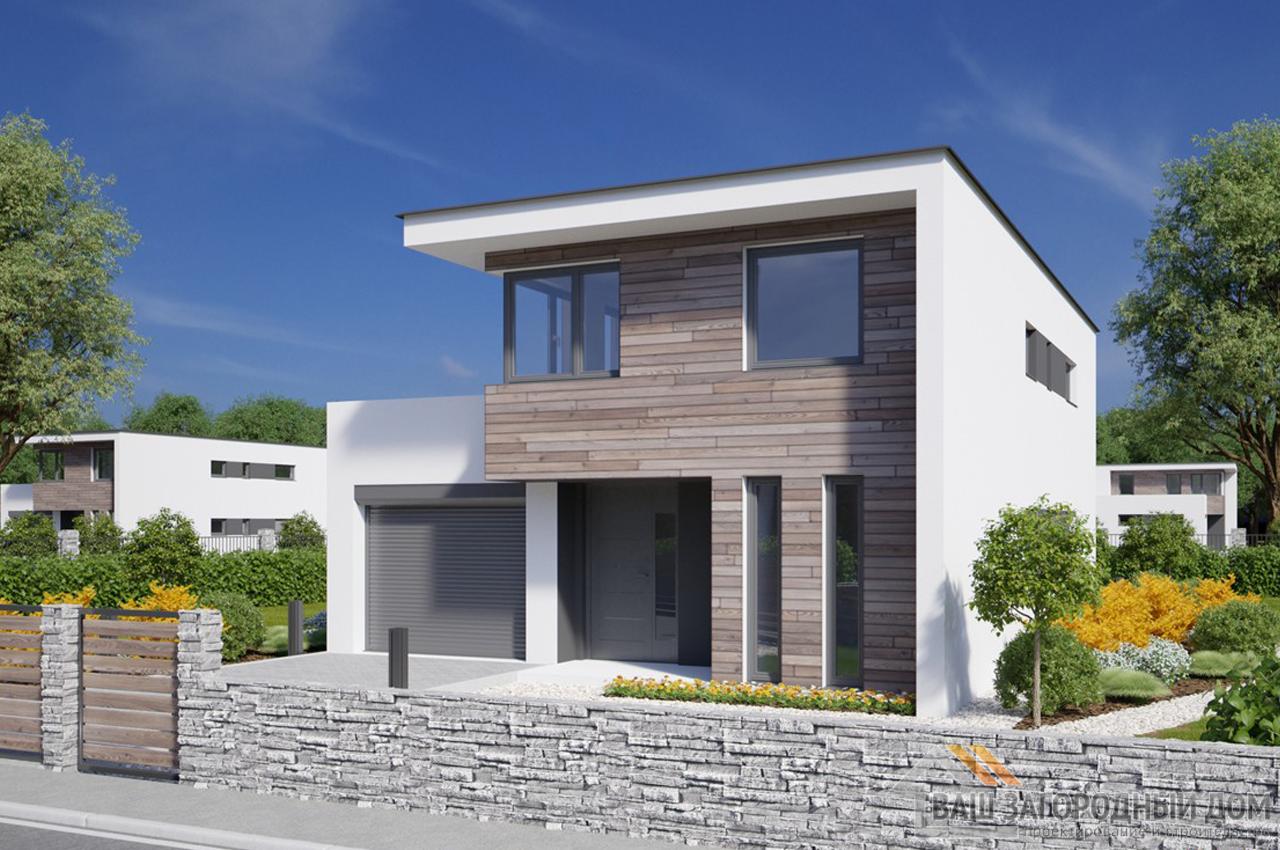 Проект дома 149м2 вид спереди