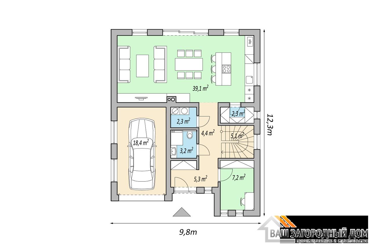 Проект дома 149м2 чертеж 1