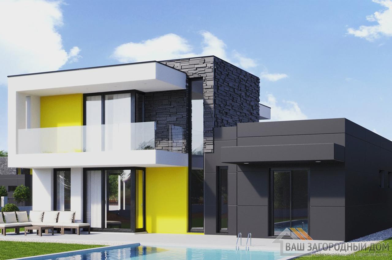 Проект двухэтажного дома 163 м2 К163222