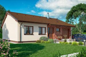 Проект одноэтажного дома с гаражом 116 м2 К116870