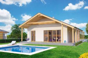 Проект одноэтажного дома 123 м2 К111239