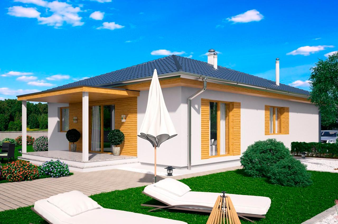 Проект одноэтажного дома 113 м2 К111384