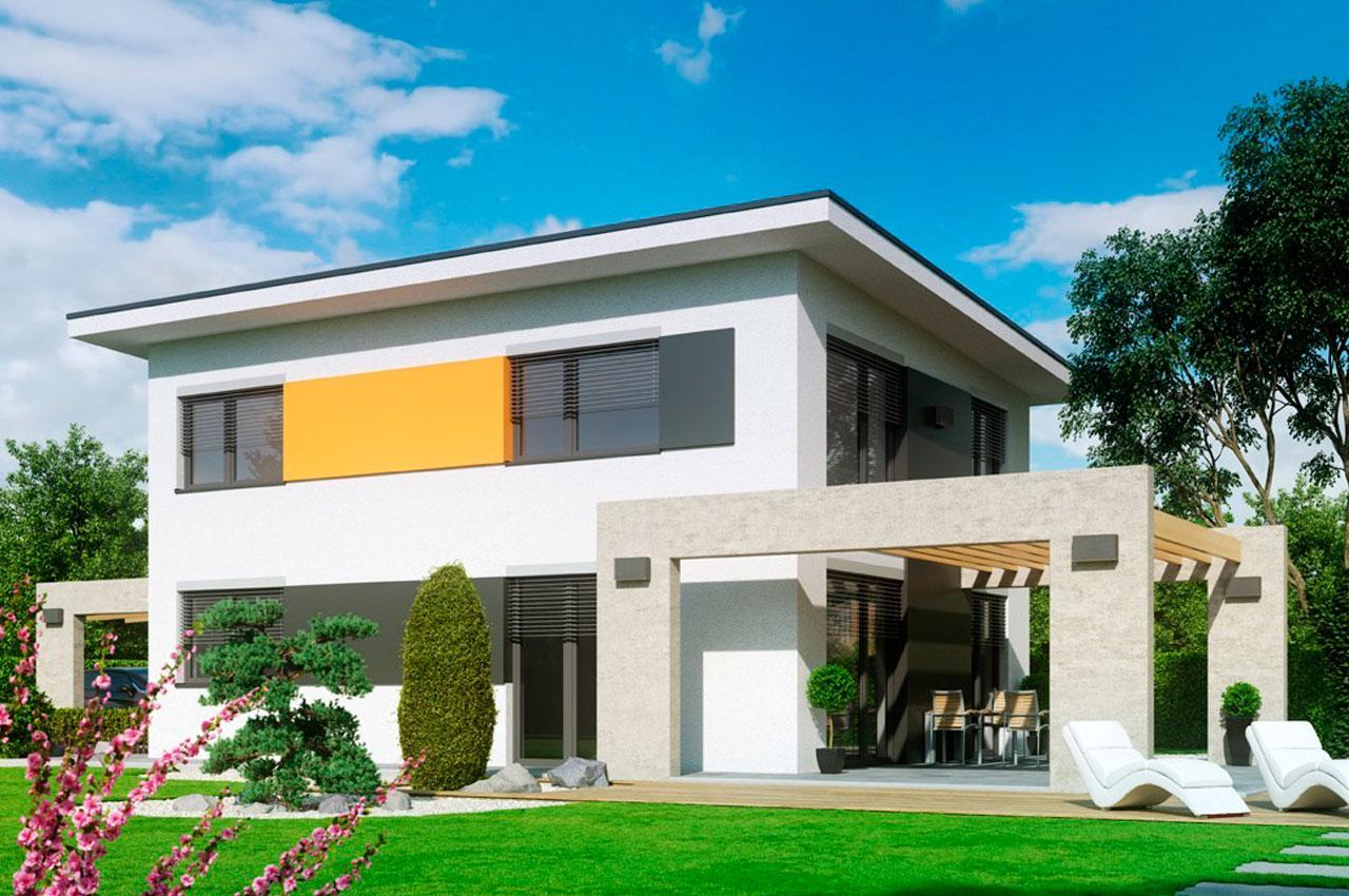 Готовый проект двухэтажного дома 121 м2 К21219