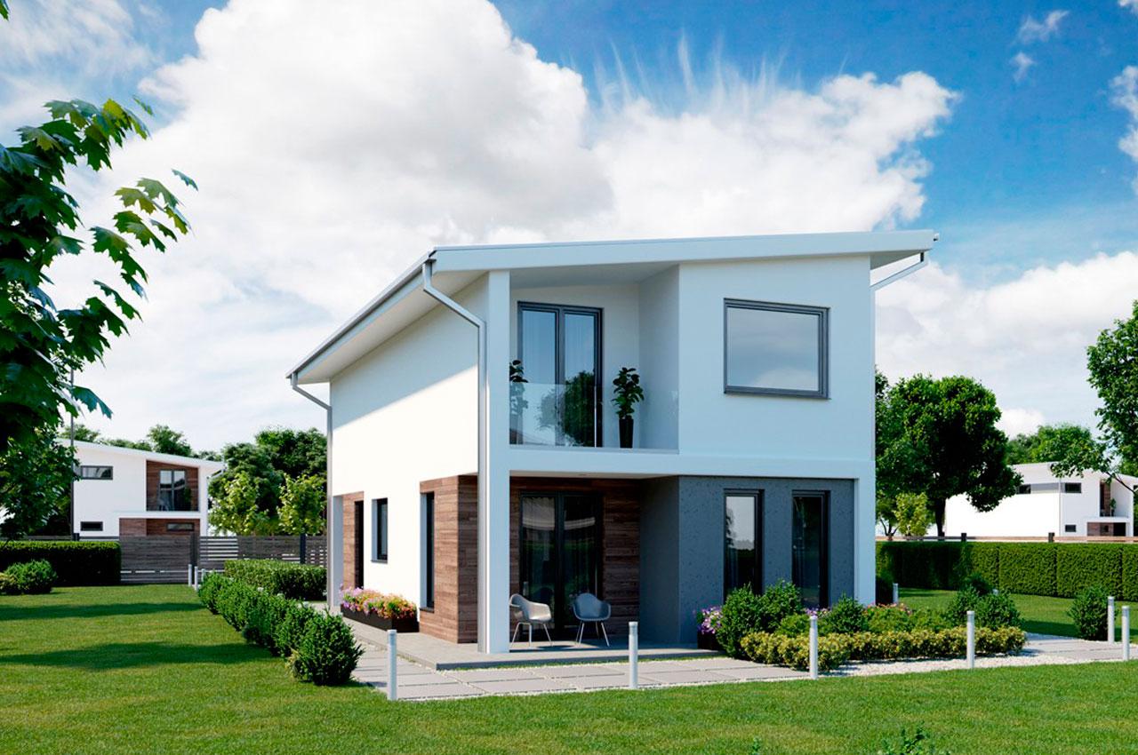 Проект двухэтажного дома 123 м2 К212392