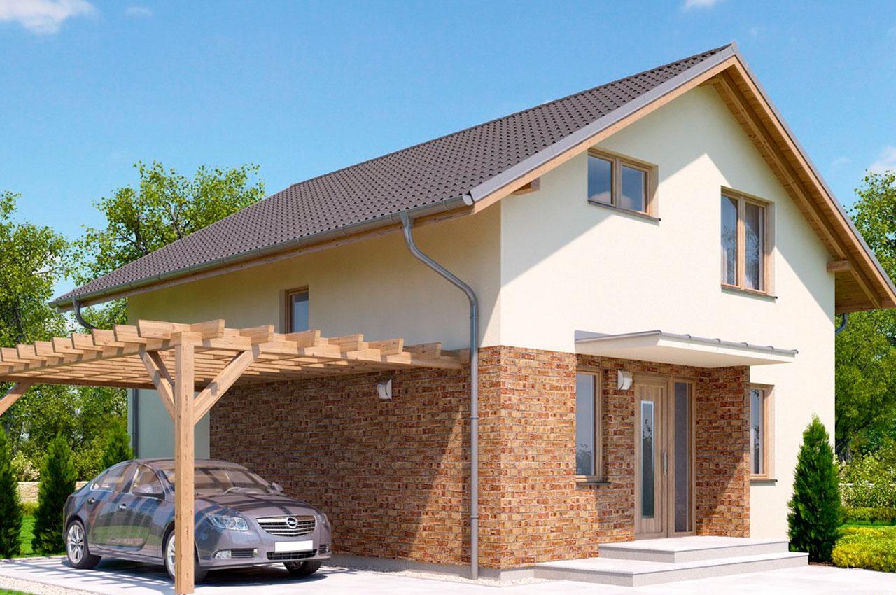 Проект 1 этажного дома 121 м2 с мансардой К22190