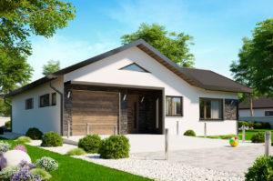 Проект 1 этажного дома 126 м2 с гаражом К111269