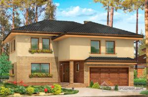 Готовый  проект 2-х этажного дома площадью 324 м2 + гараж