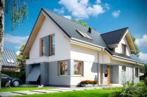 Проект одноэтажного строения прямоугольной формы с мансардой площадью 239 м2