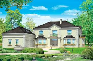 Проект представительного двухэтажного дома  площадью 728 м2