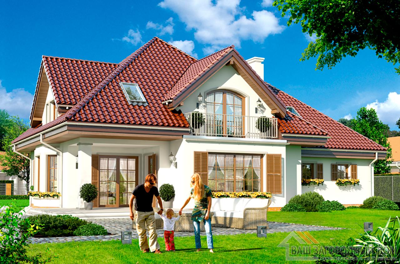 Классический проект дома в один этаж с жилым чердаком площадью 270 м2  вид 5