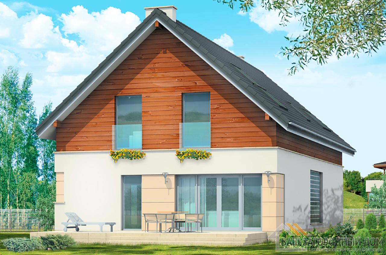 Проект классического дома в один этаж площадью 282 м2 + жилой чердак  вид 3