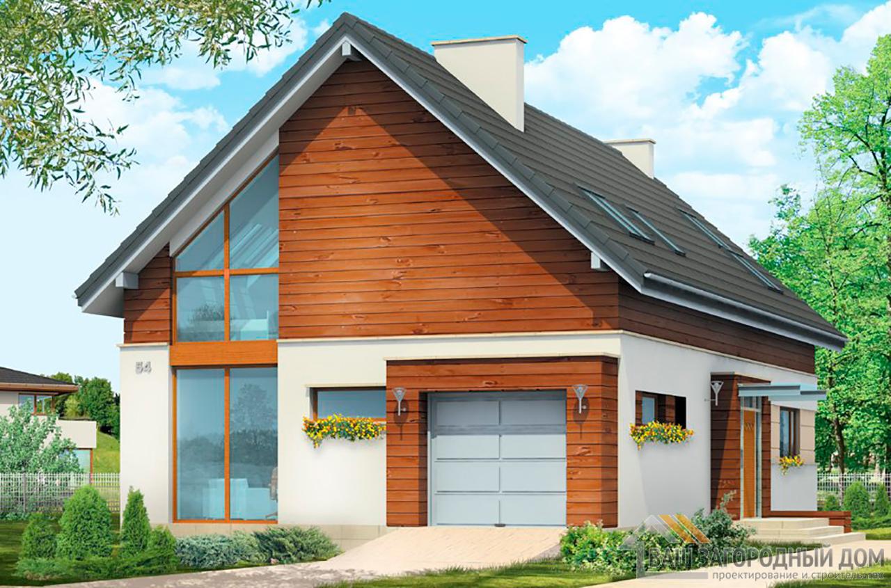 Проект классического дома в один этаж площадью 282 м2 + жилой чердак