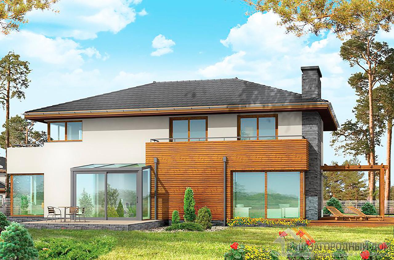 Проект  двухэтажного дома с пристроенным гаражом площадью 426 м2  вид 5