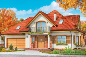 Проект небольшого дома в один этаж с интересной архитектурой площадью 240м2 + жилой чердак