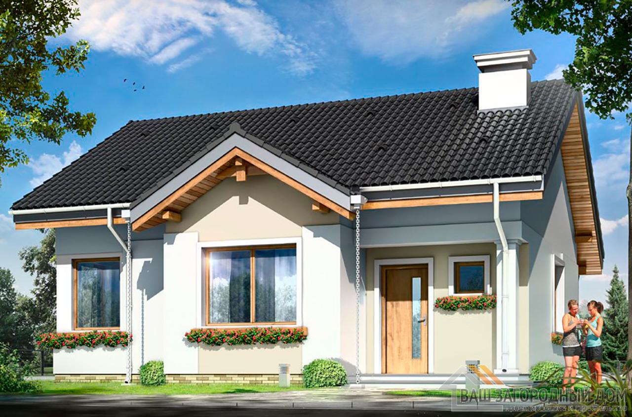 Проект 1 этажного дома площадью 86 м2
