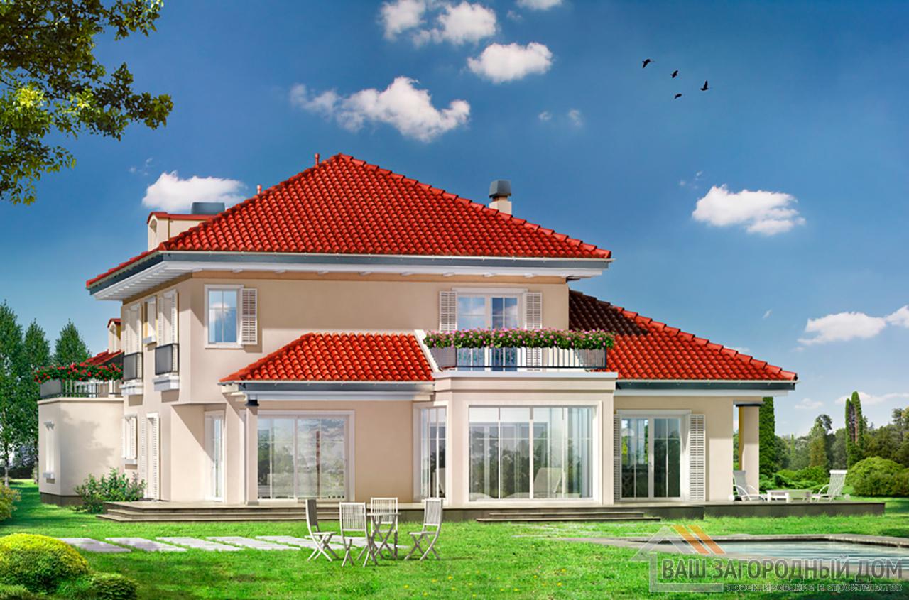 Проект представительного 2-х этажного дома площадью 439 м2