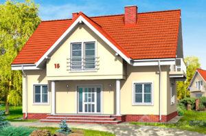 Проект одноэтажного дома с жилым чердаком и подвалом площадью 200 м2