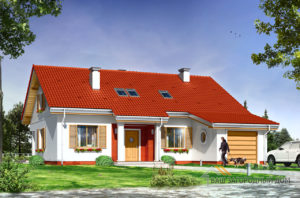 Проект стандартного 1 этажного дома площадью 166 м2
