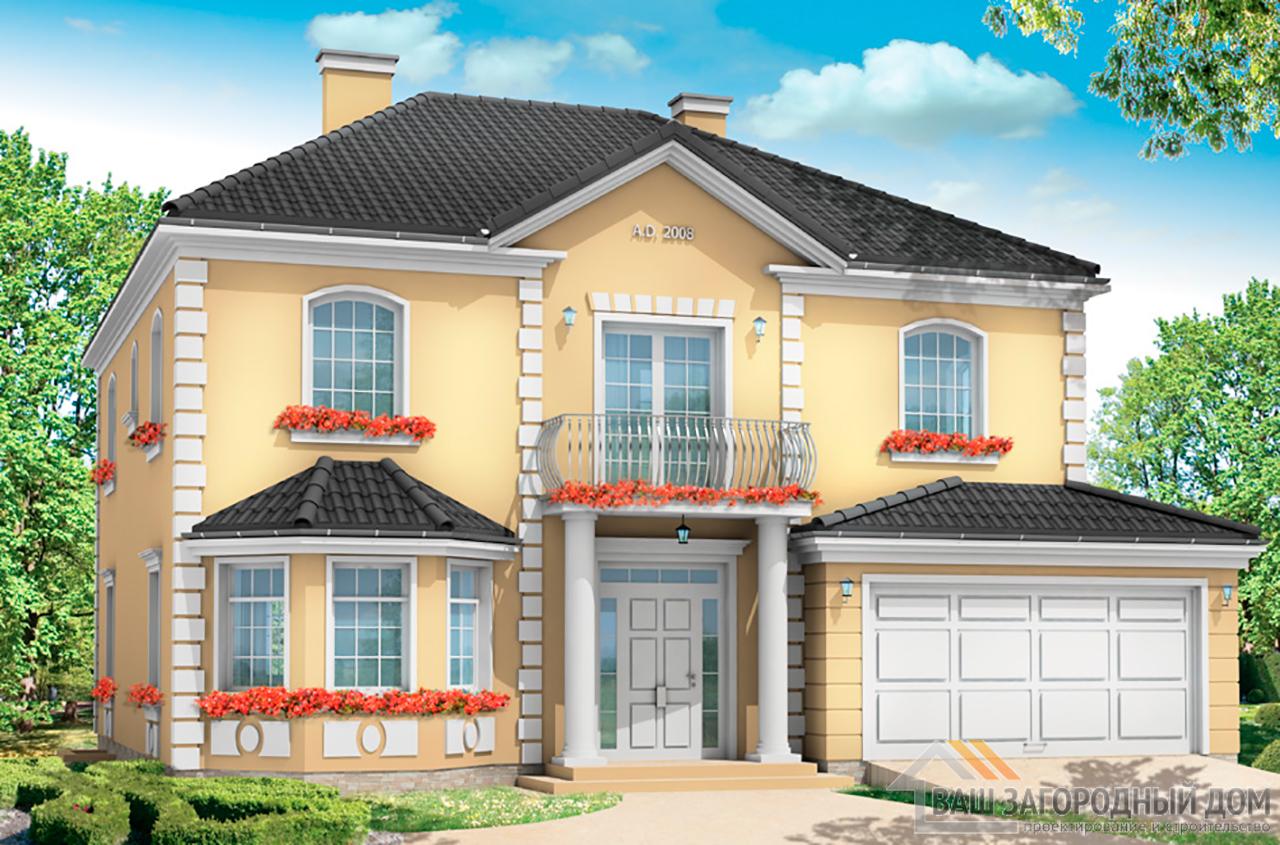Готовый проект 2 этажного дома площадью 452 м2 + гараж