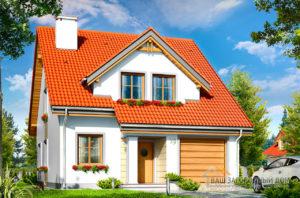Стандартный проект одноэтажного дома с мансардой площадью 219 м2