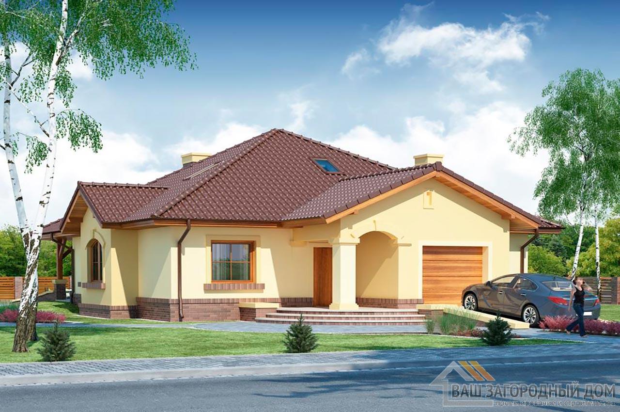 Проект готового одноэтажного дома с теплым чердаком общей площадью 201 м2, К-120115