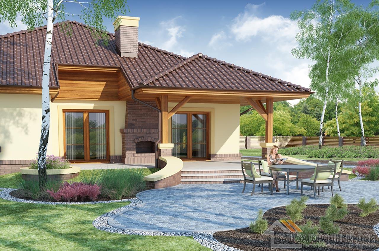 Проект готового одноэтажного дома с теплым чердаком общей площадью 201 м2, К-120115 вид 4