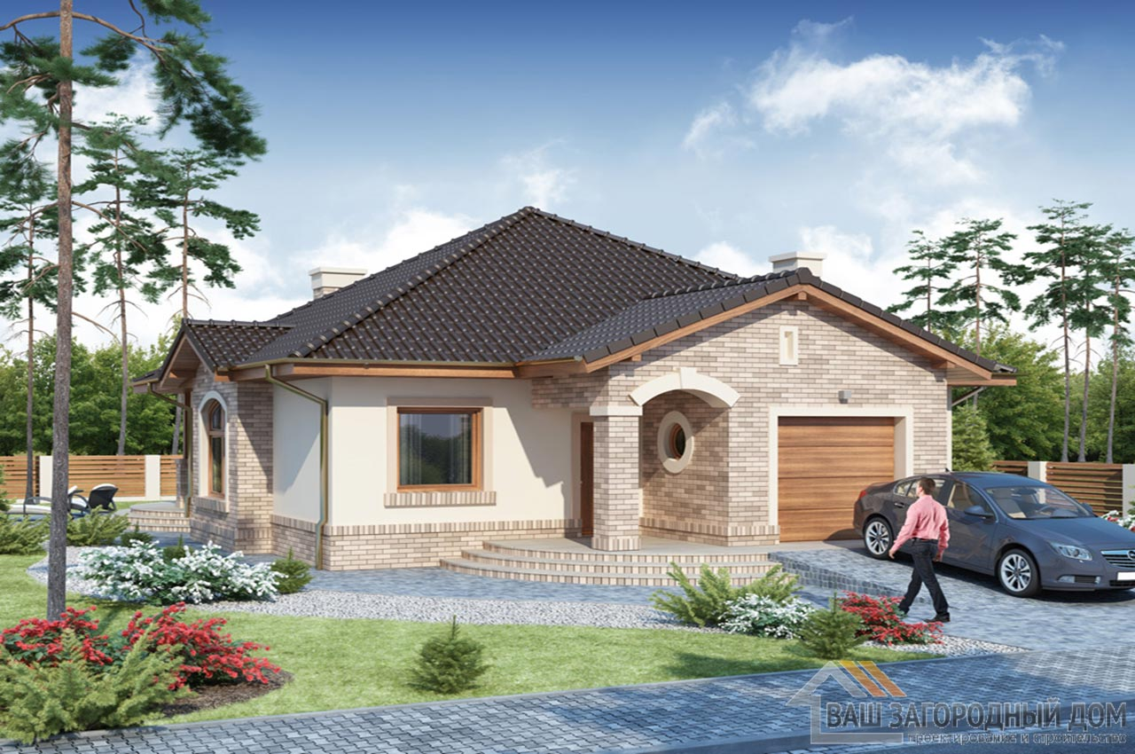 Проект одноэтажного дома 202 м2, K-120215
