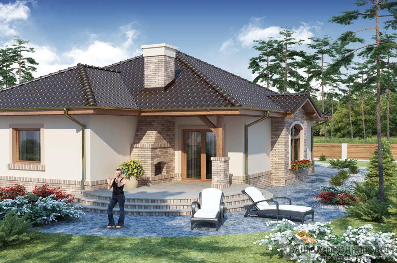 Проект одноэтажного дома 202 м2, K-120215 вид 2