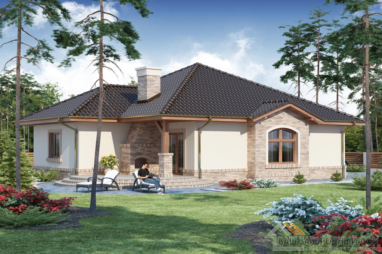 Проект одноэтажного дома 202 м2, K-120215 вид 3