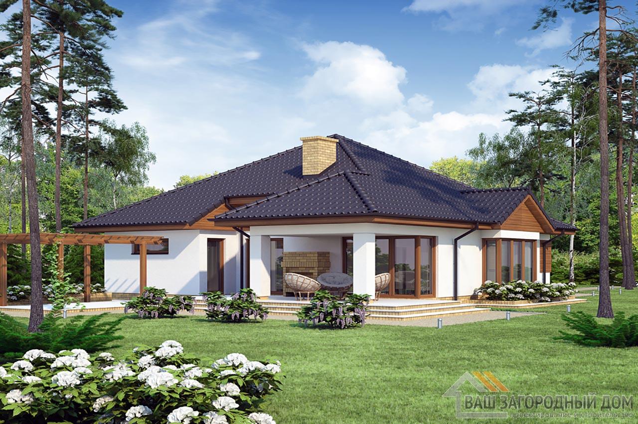 Типовой проект дома в один этаж площадью 219 м2, К-121916 вид 4