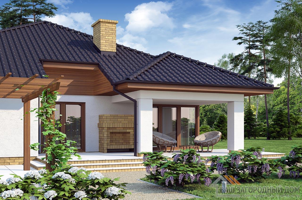 Типовой проект дома в один этаж площадью 219 м2, К-121916 вид 2
