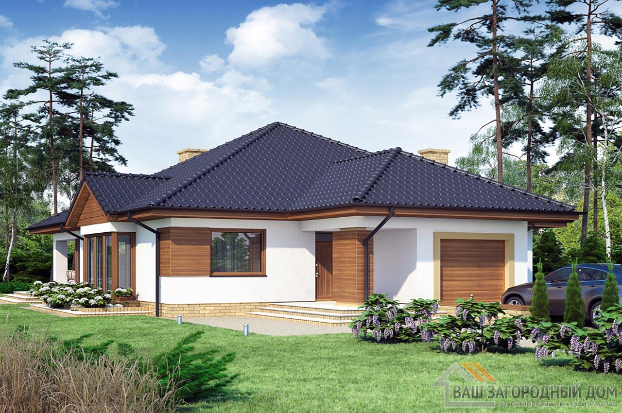 Типовой проект дома в один этаж площадью 219 м2, К-121916