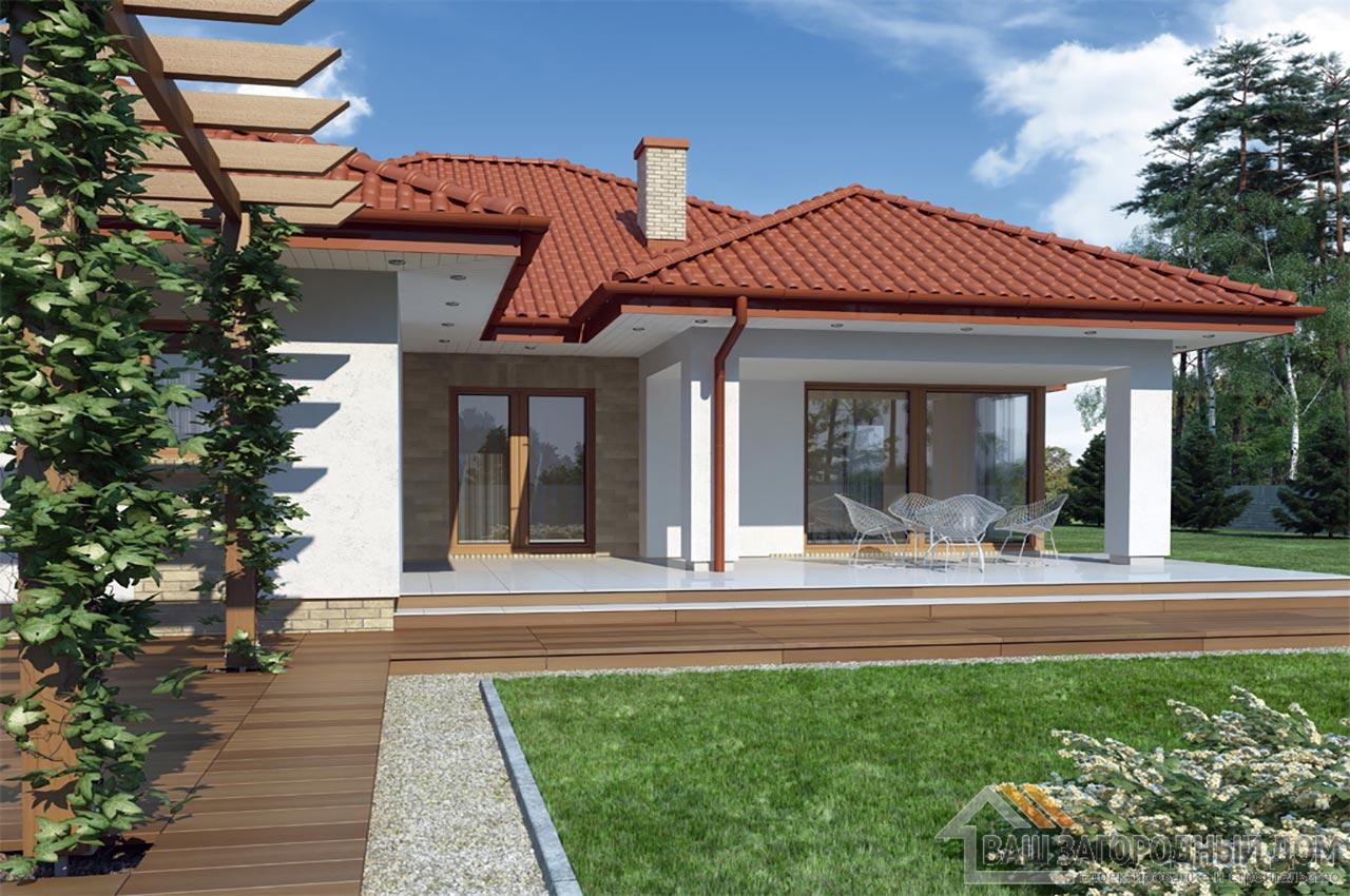 Проект одноэтажного дома 14 х 19 общей площадью 288 м2, К-128822 вид 3