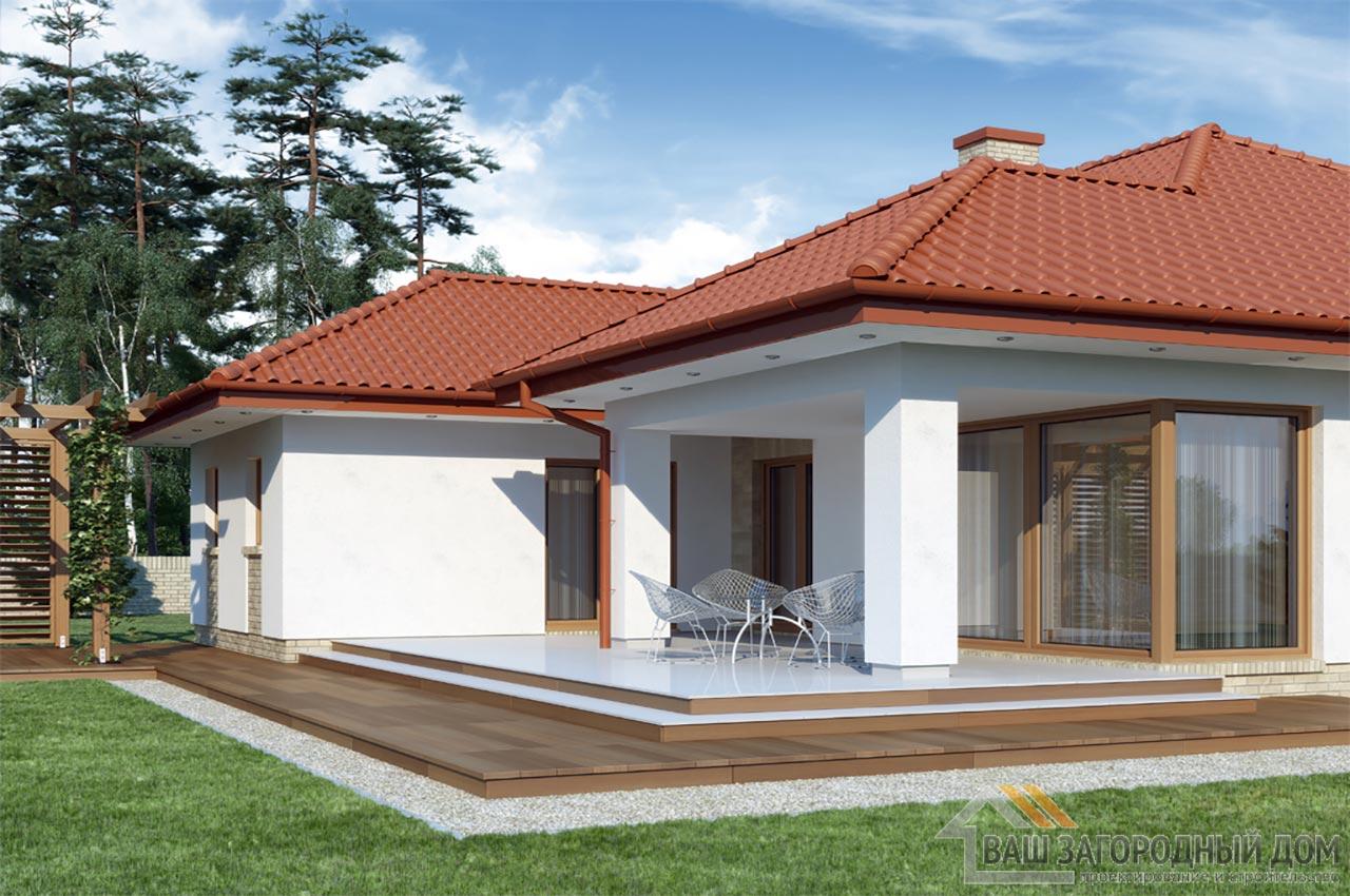 Проект одноэтажного дома 14 х 19 общей площадью 288 м2, К-128822 вид 2
