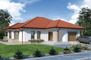 Проект одноэтажного дома 14 х 19 общей площадью 288 м2, К-128822