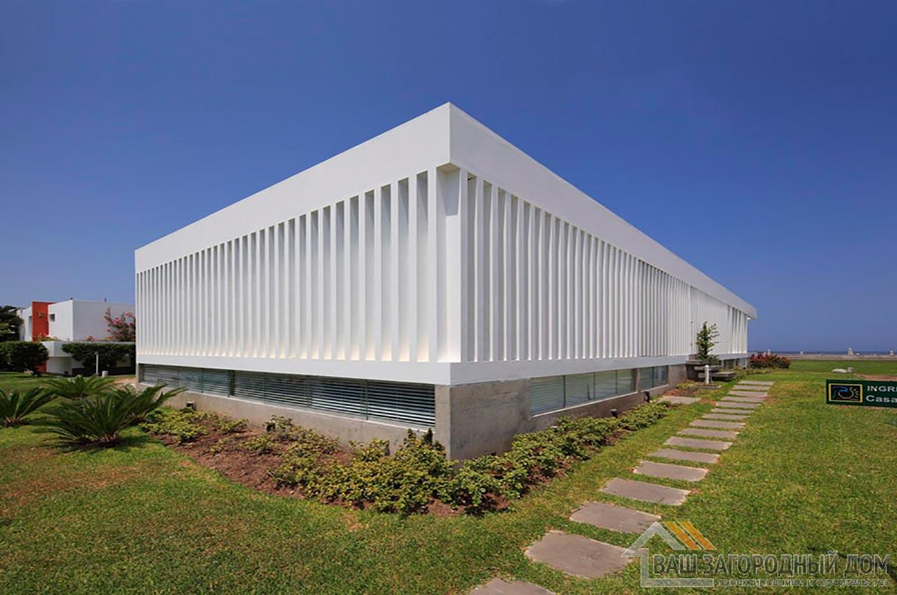 Проект двухуровневого дома в стиле хай-тек общей площадью 450 м2, К-145034 вид 3